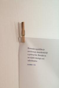 Výstava Andreja Kolenčíka / Ilustrovaná ústava