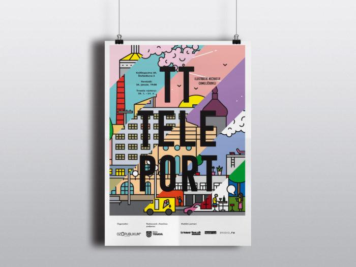 TTTeleport, výstava Michaely Chmelíčkovej