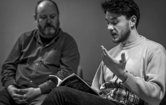 Spisovatelia Erik Šimšík a Daniel Vadas v Berlineri