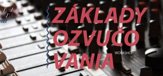 Workshop o zvučení odštartuje vzdelávací program